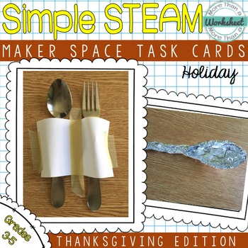 Maker Space Task Cards (Thanksgiving Edition)