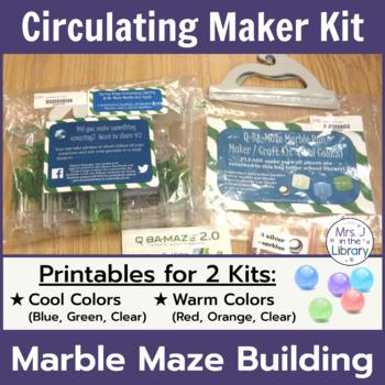 Makerspace Starter: Q-BA-MAZE (TM) Marble Run or Maze Circ