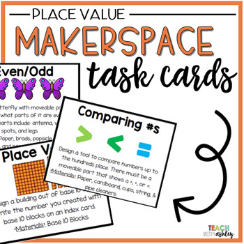 Makerspace Task Cards {Place Value}