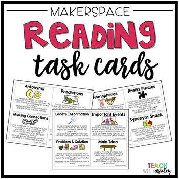 Makerspace Task Cards {Reading}