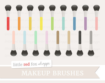 Makeup Brush Clipart; Beauty