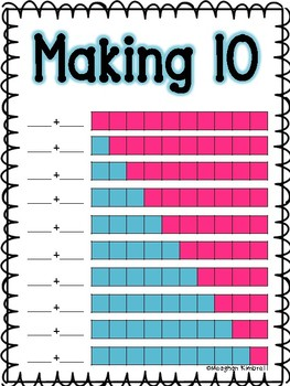 Making 10 Poster and Math Journal Page
