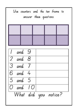 Making 10 Rainbow Facts FREE Printable Worksheets & Flashcards
