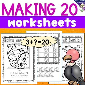 Making 20 (Twenty) Worksheets / Printables / Includes Numb