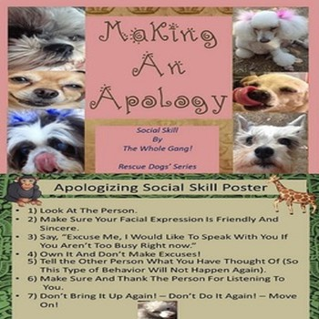 Making An Apology Social Skill Autism/PDD/ELD/SPED