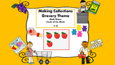 Making Collections Grocery Theme Math Game (Tools of the Mind)
