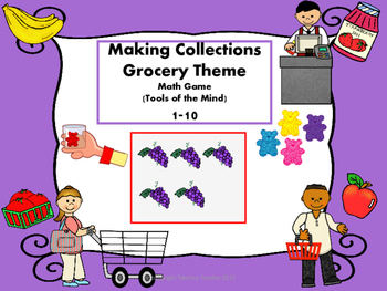 Making Collections Grocery Theme Math Game (Tools of the M