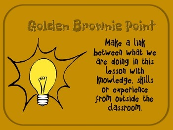 Making Connections - Golden Brownie Point