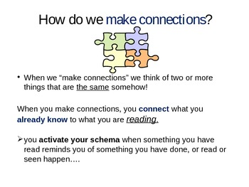 Making Connections: READING COMPREHENSION strategy -Power Point