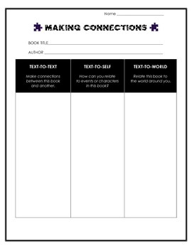 Making Connections Reading Activity