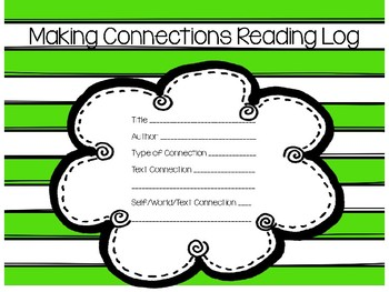 Making Connections Reading Log