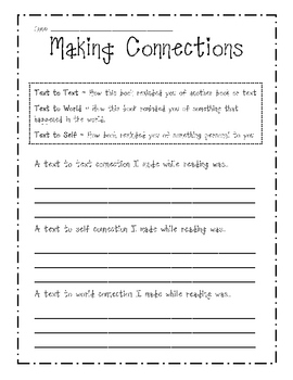 Fan image pertaining to making connections worksheet printable
