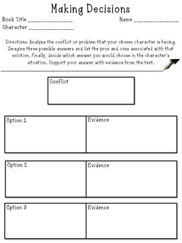 Making Decisions - Conflict Resolution Analysis