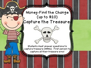 Money Common Core Figuring Change Pirate Center Game
