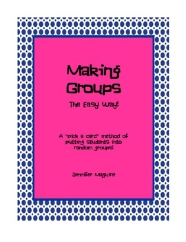 Making Groups - the easy way!