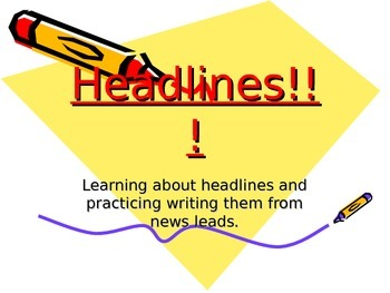 Making Headlines For News Leads