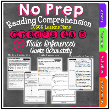 Making Inferences & Quoting from the Text: Common Core Aligned