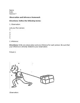 Making Inferences and Observations Worksheet