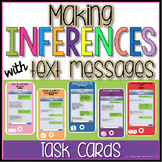 Making Inferences with Text Messages Task Cards