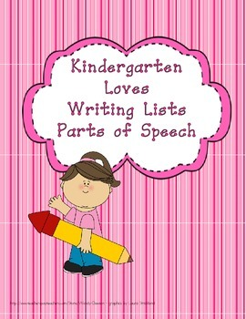 Writing Lists - Parts of Speech