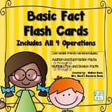 Basic Fact Flash Cards- All Four Operations