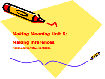Making Meaning (Third Edition) - Grade 4 - Unit 6, Weeks 1&2