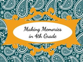 Making Memories in 4th Grade