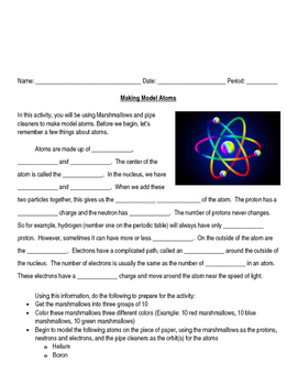 Making Model Atoms Activity