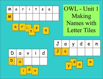 Making Names with Letter Tiles