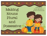 Making Nouns Plural and Possessive task cards, sort, and more