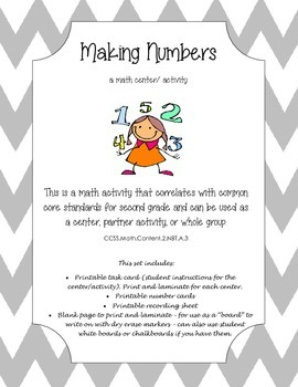 Making Numbers Math Center