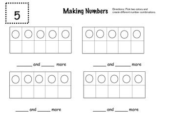 Making Numbers with Ten Frames