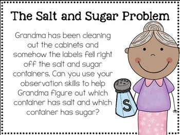 Making Observations Using The 5 Senses: The Salt and Sugar