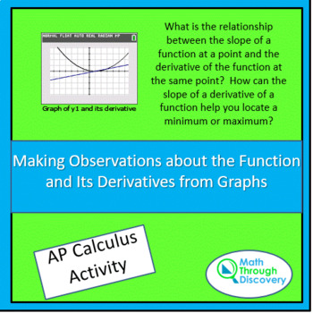 A Function and Its Derivatives - Making Observations