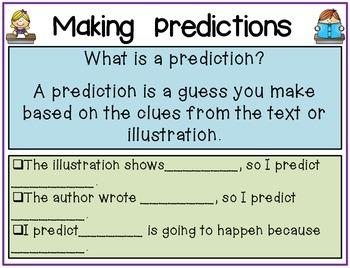 Making Predictions Organizers