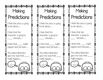 Making Predictions Bookmarks