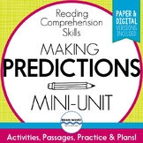Predicting Passages, Worksheets, and Graphic Organizer for