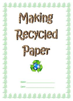 Easy Experimement: Making Recycled Paper; Boardmaker; Earth Day