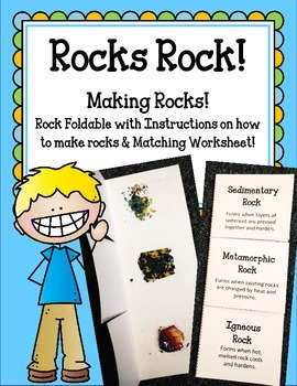 Making Rocks!! Foldable and Worksheet Igneous Sedimentary