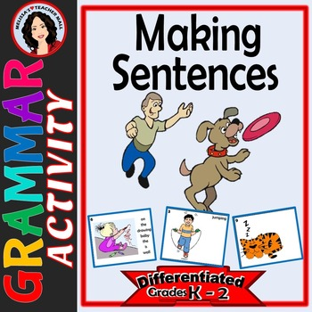 Writing Sentences with Task Cards, Differentiated