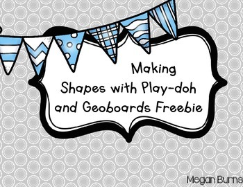 Making Shapes with Play-doh and Geoboards