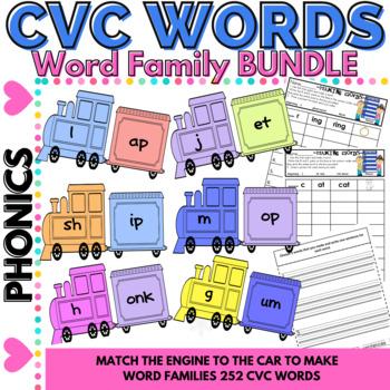 CVC Word Work Making Short Vowel CVC Words and Glued Sound