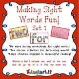 Making Sight Words Fun - Set 1