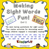 Making Sight Words Fun - Set 2