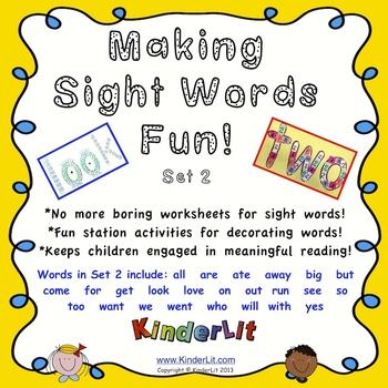 Making Sight Words Fun - Set 2