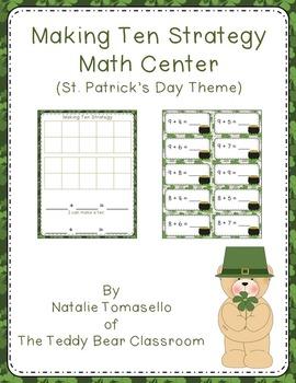 Making Ten Strategy Math Center - St. Patrick's Day Theme
