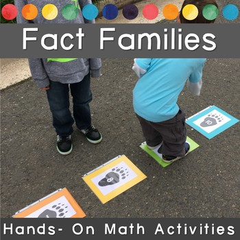 Making Tracks with FACT FAMILIES, Movement Math Game & Activity