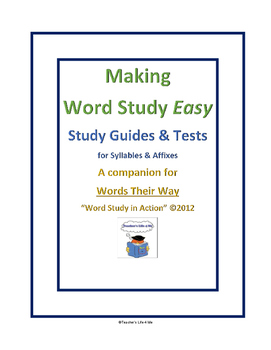 Making Word Study Easy - Syllables & Affixes #33-39
