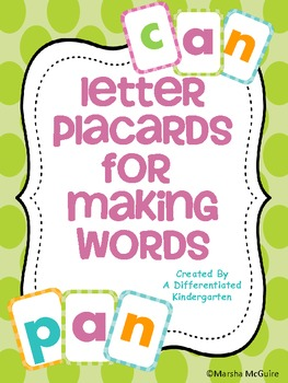 Making Words Colorful Placards