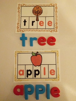 Making Words FALL Activity Cards